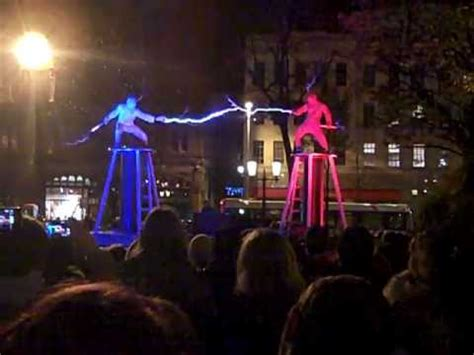 Tesla Coil Show Two Two Tesla Coils Special Suits Electricity