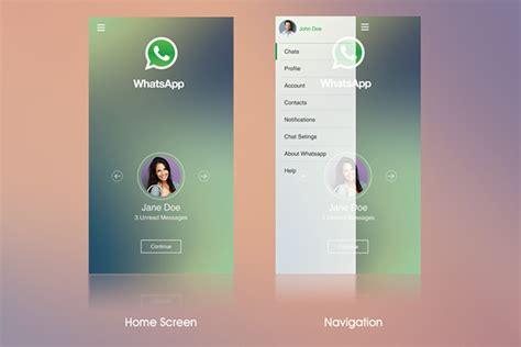 whatsapp layout whatsapp layout concept on behance