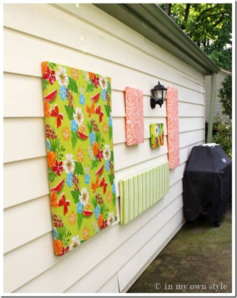 hanging artwork how to make outdoor wall in my own style
