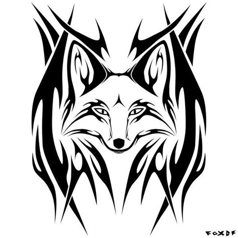 tribal fox tattoo tribal fox fox image search nature