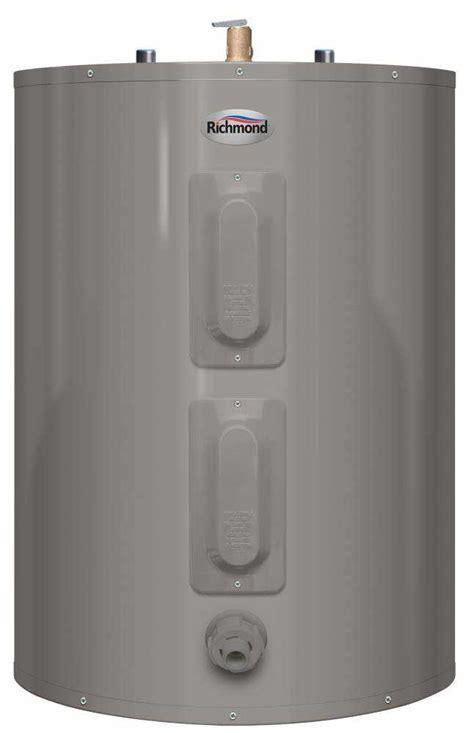 richmond self cleaning water heater richmond 6es40 d 36 gal essential short electric everkleen