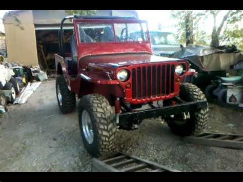 Lifted Willys Jeep 1945 Willys Mb Jeep 4x4 Restored With Some Added Touches