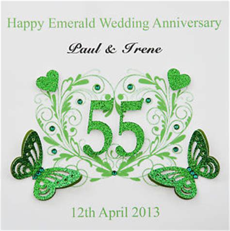 Emerald Wedding Anniversary Card Uk by Personalised Handmade Emerald Wedding Anniversary Card 55