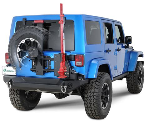 jeep swing away tire carrier mickey thompson metal s1 rear bumper with swing away tire