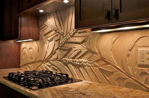 Copper Tile Backsplash For Kitchen by Gasch Design Harvest Backsplash Stone And Tile