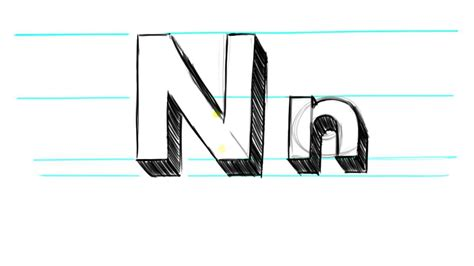 N Drawings by How To Draw 3d Letters N Uppercase N And Lowercase N In