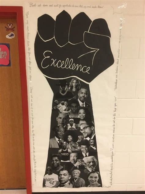 the revolution black history month door decorations