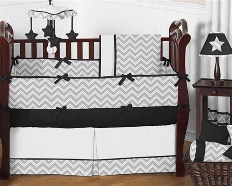 Sweet Jojo Zig Zag Crib Bedding Gray And Black Chevron Zig Zag Baby Bedding 9pc Crib Set By Sweet Jojo Designs Only 189 99