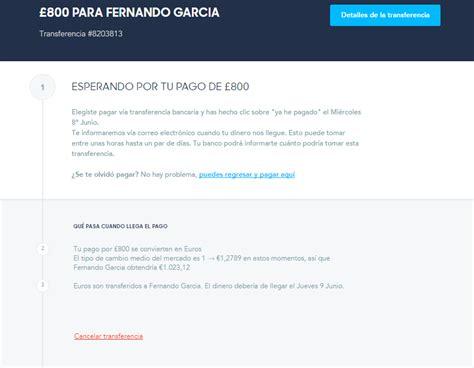 transferencia banco de espa a transferwise como hacer transferencia internacional gratis
