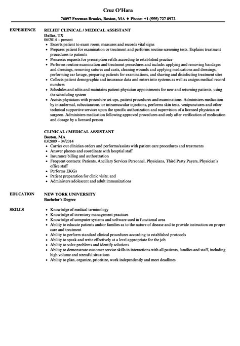 Clinical Assistant Resume by Assistant Resume Images Cv Letter And