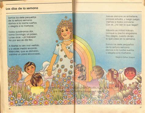libro de lecturas segundo grado de primaria 2000 libros de primaria de los 80 s los d 237 as de la semana mi