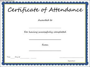 Certificate Of Attendance Templates by Certificate Of Attendance Template Sle Templates
