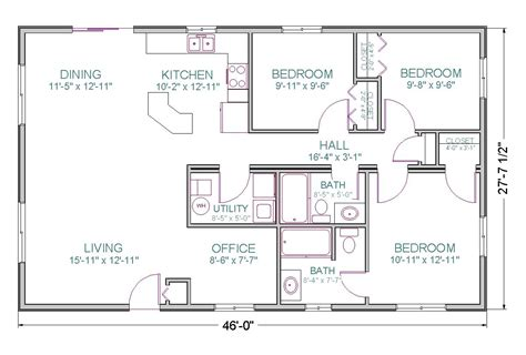 Floor Plans For 1600 Sq Ft Ranch 1600 Square Foot Country House Plans