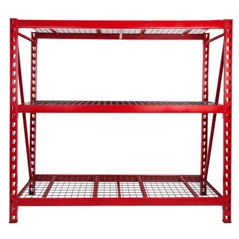 industrial storage shelves steelman 72 in h x 77 in w x 24 in d 3 shelves steel expandable industrial storage rack unit