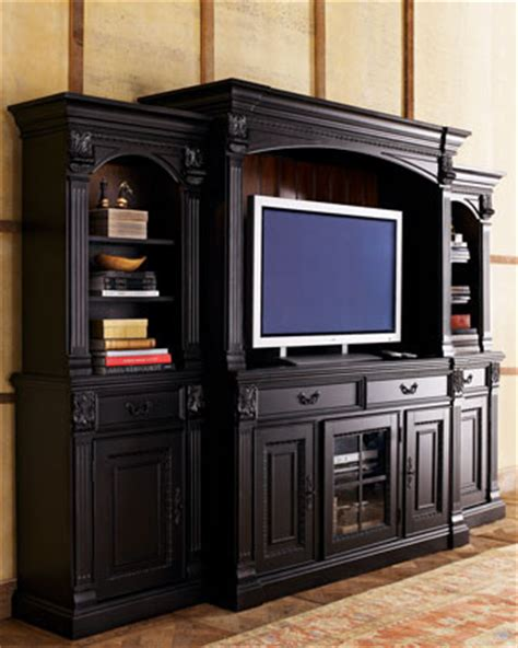 wall media unit media wall unit traditional media storage by horchow