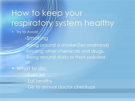 what to keep respiratory system powerpoint