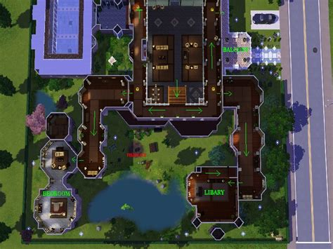 Nice House Plans mod the sims lara croft manor huge interior built