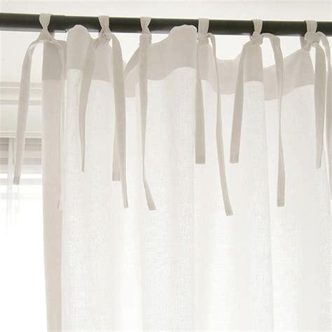 ribbon tie curtains curtains with ribbon ties a handmade cottage how to make
