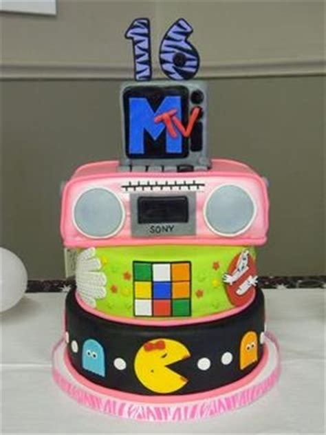 awesome boombox cake pac man ghostbusters sweet  party  cakes   prairie