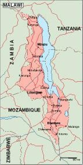 geographical map of malawi malawi geography mapscd