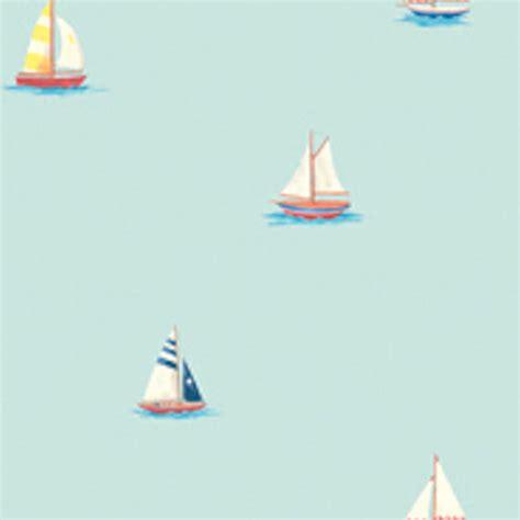 Fathead Wall Murals blue sailboat wall paper