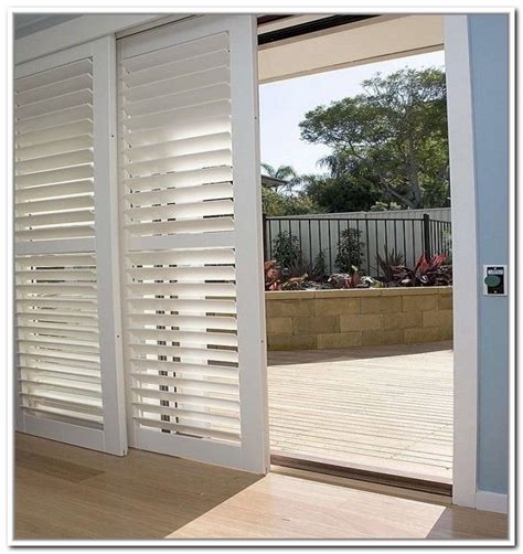 Bypass Plantation Shutters For Sliding Glass Doors Joe Shutters On Sliding Patio Doors