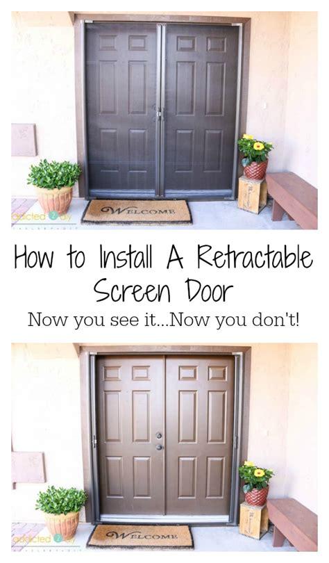 How To Install Screen Door by How To Install A Retractable Screen Door Addicted 2 Diy