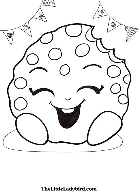 shopkins coloring page kooky cookie printable 8 shopkins