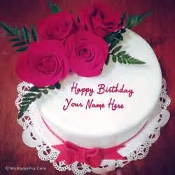kuchen mit bild drauf lovely roses birthday cake with name