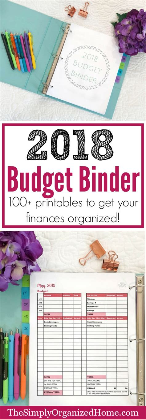 the 2018 budget binder is here the simply organized home