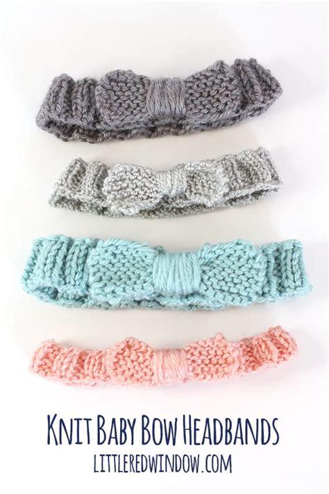 easy knit baby headband knit bow baby headband window