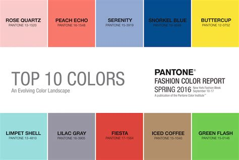 spring summer 2017 color trends pantone spring colors how to wear 2016 s top 10 color trends
