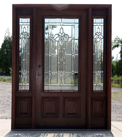 Ebay Exterior Doors Mahogany Exterior Door With Sidelights N 200 Mystic 6 8 Ebay