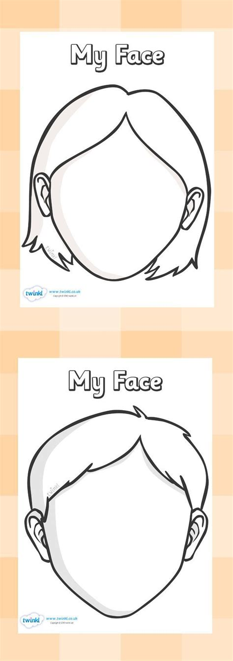 Drawing Your Feelings by Blank Faces Templates Free Printables Children Can Draw
