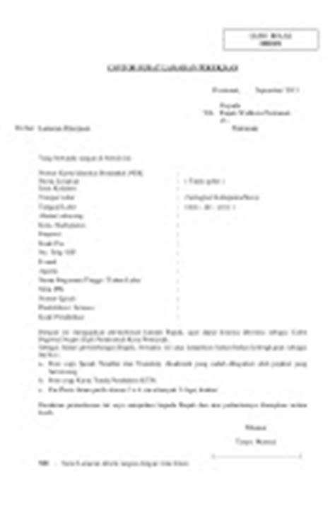 10 Contoh Surat Lamaran Kerja CPNS - ben jobs