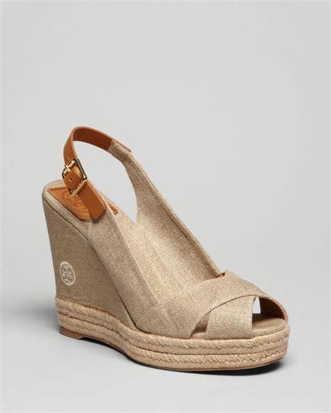 burch platform sandals lyst burch peep toe platform wedge sandals beller
