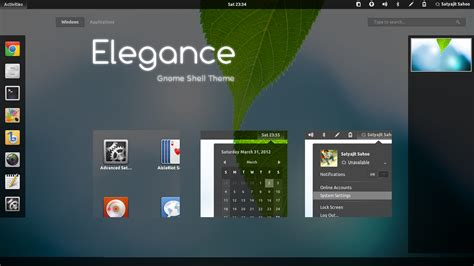 themes gnome 3 gnome shell orion gtk3 and gnome shell elegance themes now support