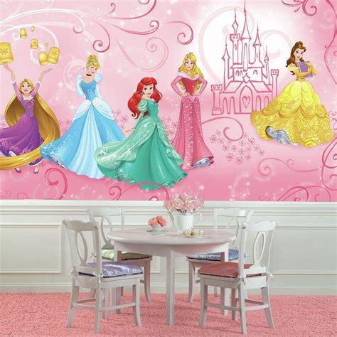 wallpaper disney murals roommates 72 in w x 126 in h disney princess enchanted