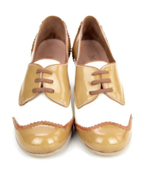 shoes in style the sally in coffee leather retro vintage