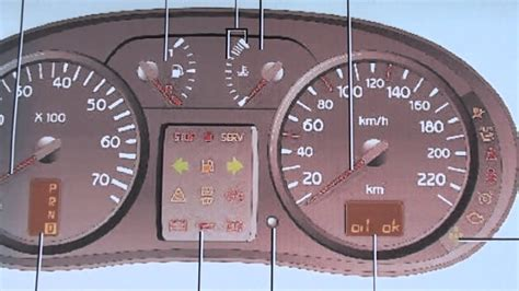 renault clio mk dashboard warning lights symbols youtube
