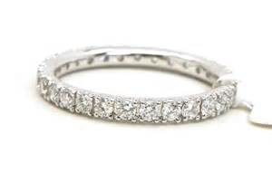 Infinity Band 18k White Gold Diamonds Eternity Wedding Band Ring