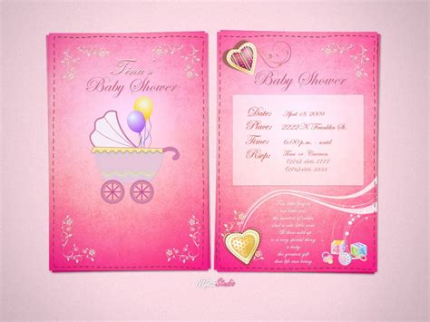 free invitation card designs baby shower invitations baby shower invitations cards