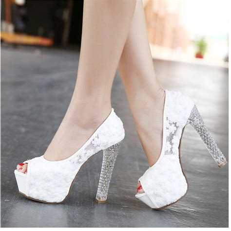 Womens White Wedding Shoes by Popular Bridal Lace Shoes Buy Cheap Bridal Lace Shoes Lots