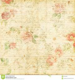 shabby chic vintage rose floral grungy background stock