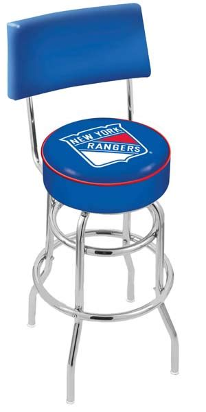 New York Rangers Bar Stool Seats by New York Rangers Bar Stool With Back
