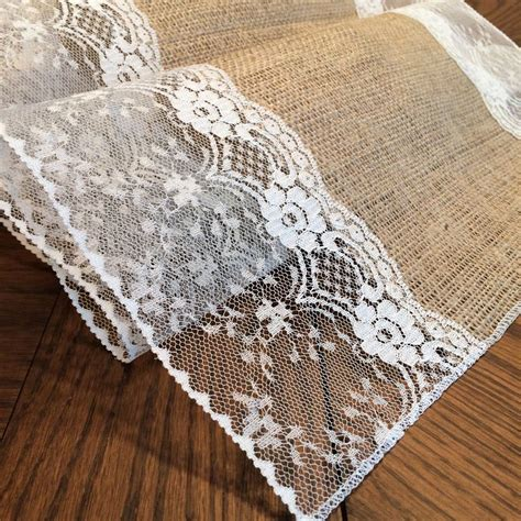 shabby chic burlap shabby chic burlap and lace table runners check these out