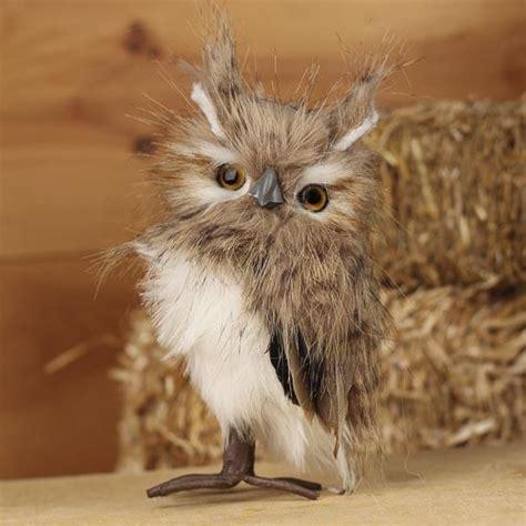 Fluffy Artificial Screech Owl   Birds & Butterflies
