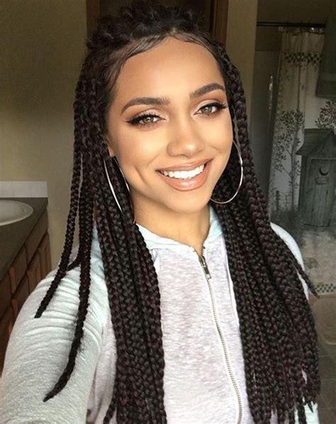 2 braids goong back lightskins box braids hair crochet 12 18 crochet hair extensions