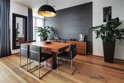 Black Accent Wall In Dining Room Salas De Jantar Minimalistas E Sofisticadas Suacasamoderna