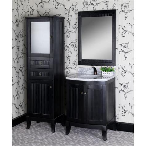 27 Inch Bathroom Vanity Classic 27 Inch Traditional Single Sink Bathroom Vanity Matte Black Finish